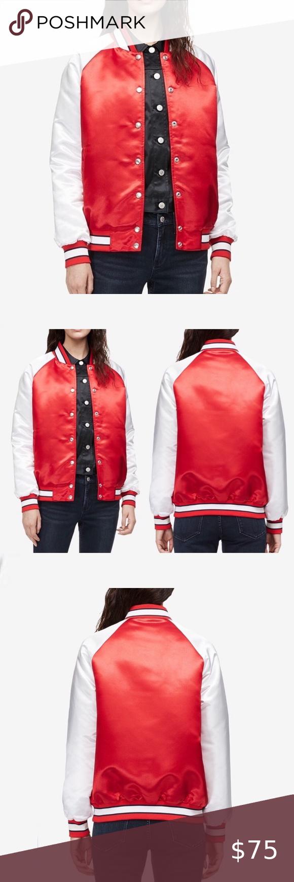 Nwt Calvin Klein Varsity Bomber Jacket Red M Calvin Klein Jeans Varsity Bomber Jacket Red And White Made Varsity Bomber Jacket Red Jacket Bomber Jacket [ 1740 x 580 Pixel ]