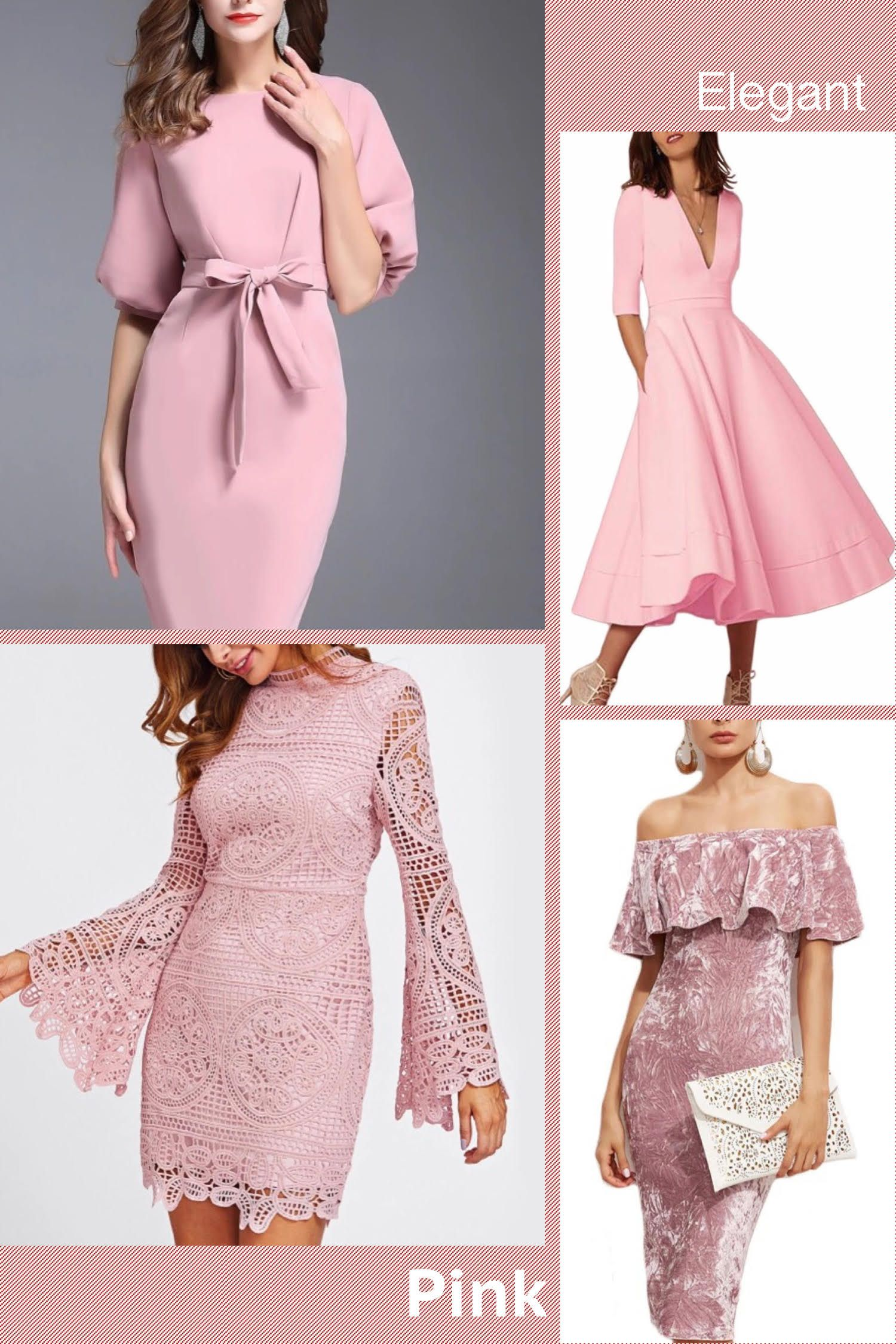PINK Holiday Party Dresses For Women | Dressed in Pink | Pinterest ...