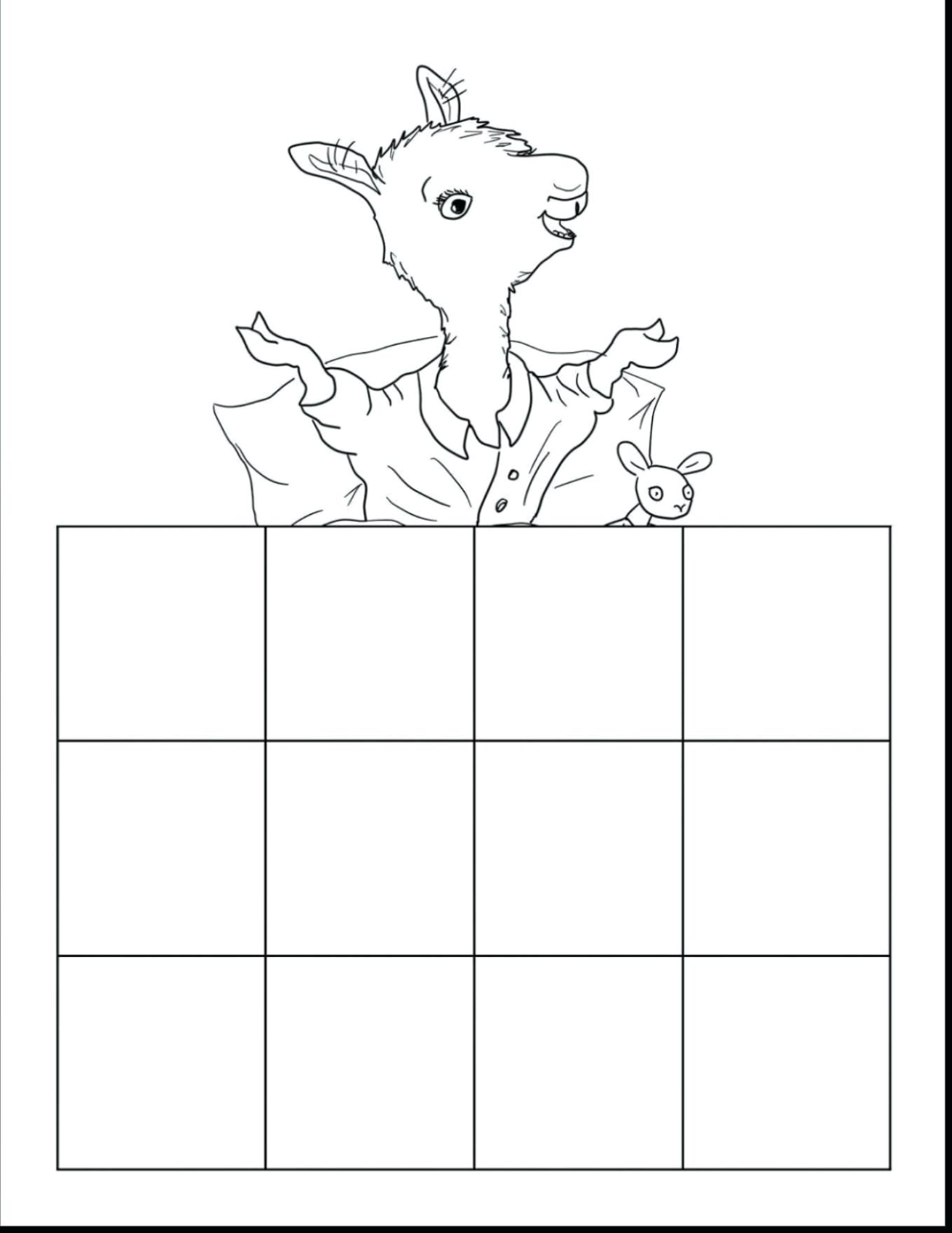 Llama Red Pajama Coloring Page From Category Communitize Co