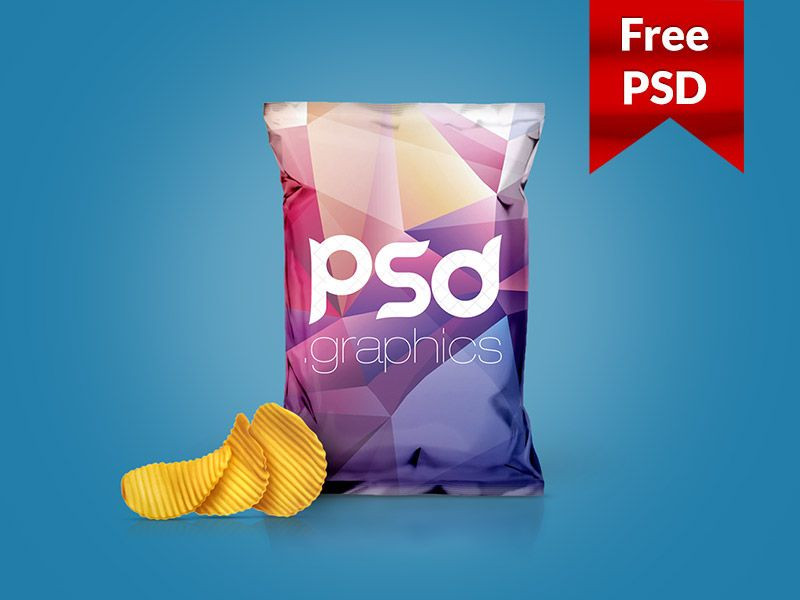 Download Chips Foil Bag Packaging Mockup Free Psd Packaging Mockup Mockup Free Psd Free Packaging Mockup
