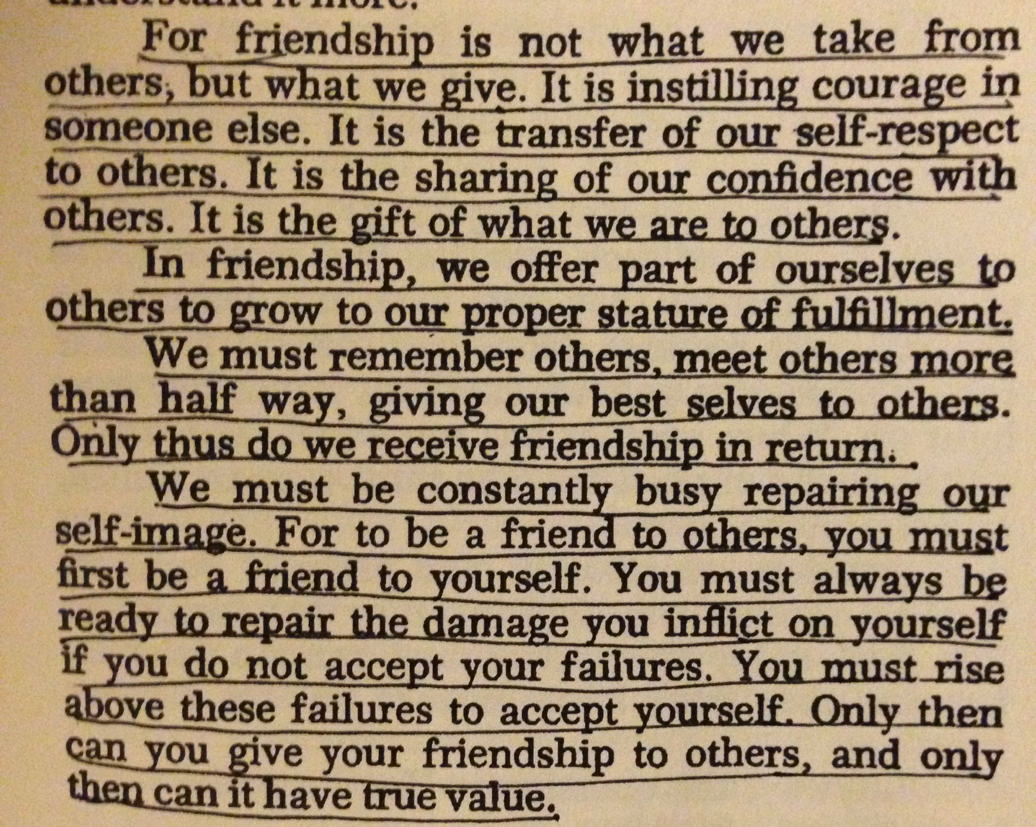 A Beautiful Definition Of Friendship By Maxwell Maltz With Images