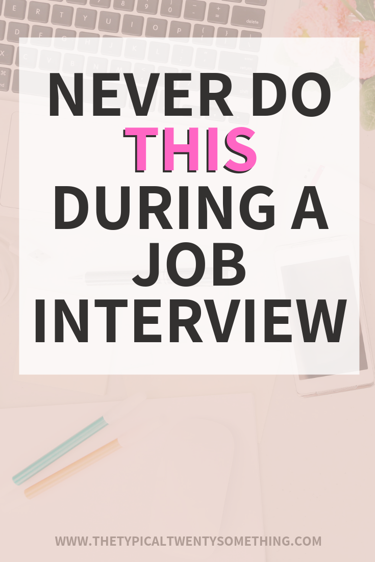 Five Things You Should Never Do In A Job Interview - Job interview tips, Job interview, Interview tips, Interview advice, Job, Interview help - Job interviews can be so challenging, here are five things you should never do in a job interview  and what to do instead!