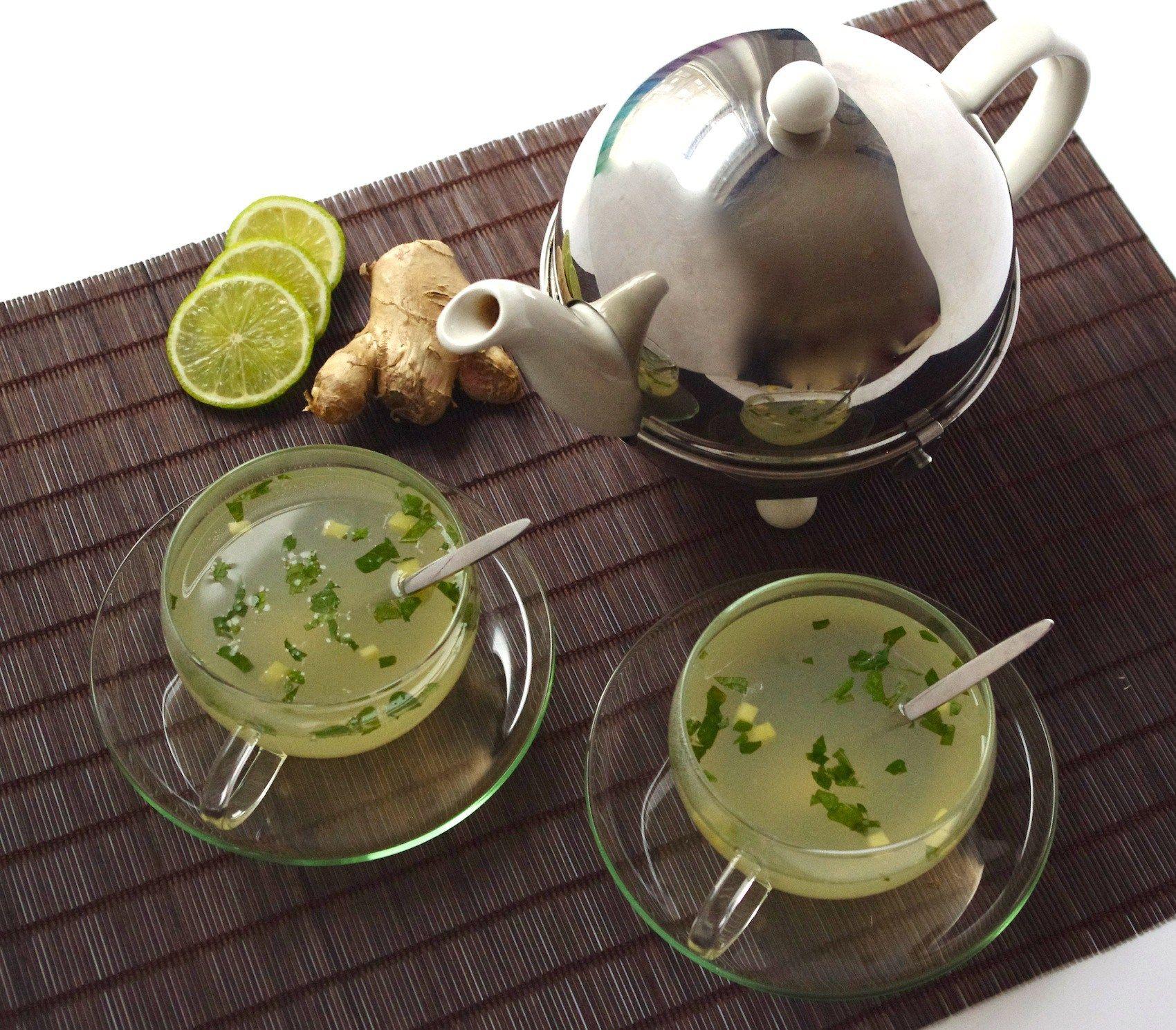 Infusion détox citron vert-gingembre-menthe | Detox