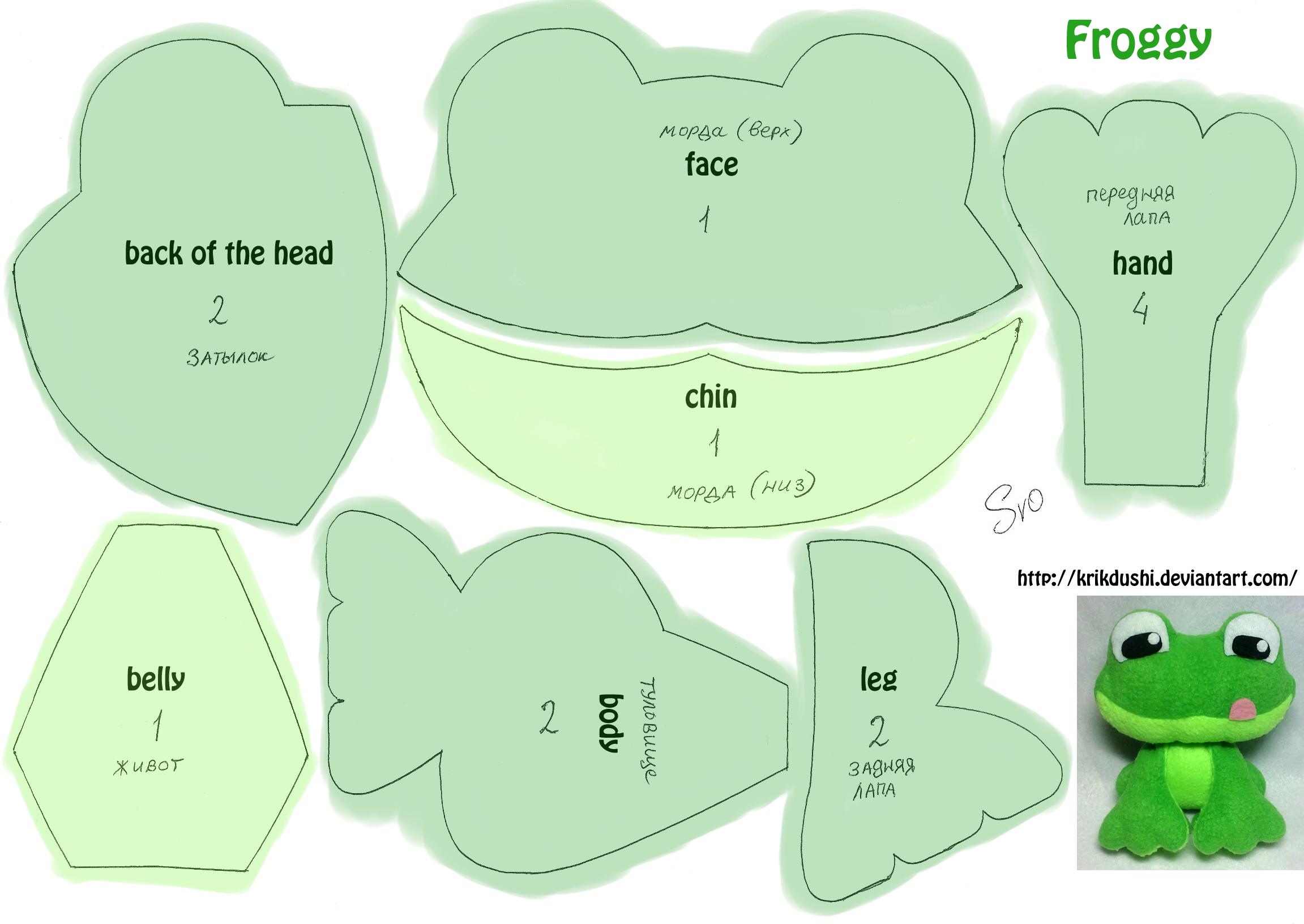 Froggy Frosch nähen | DIY | Pinterest | Frösche, Nähen und Musterschnitt