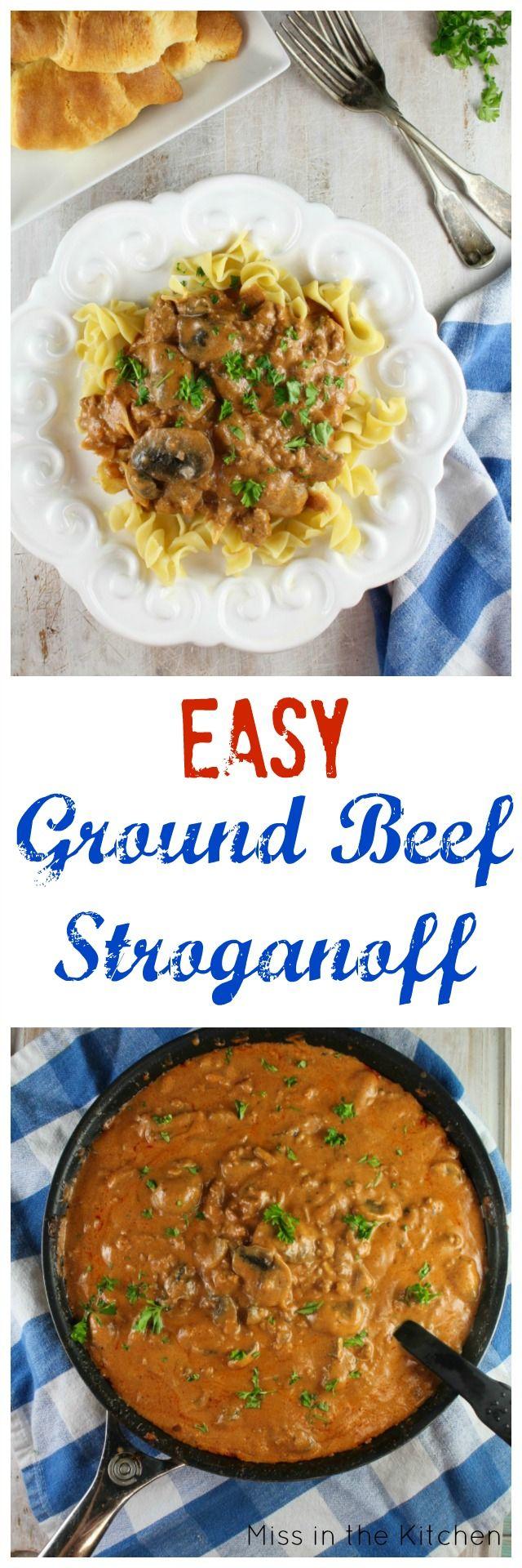 Easy Ground Beef Stroganoff Recipe