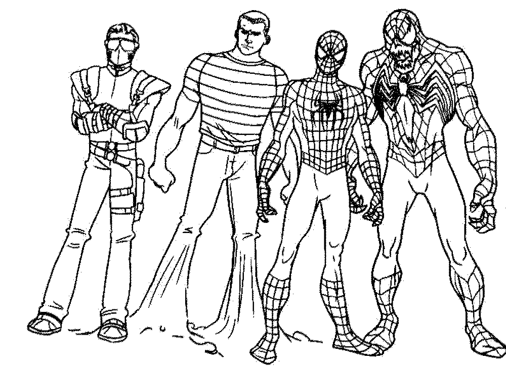 Spiderman Coloring Pages With Venom Dibujos