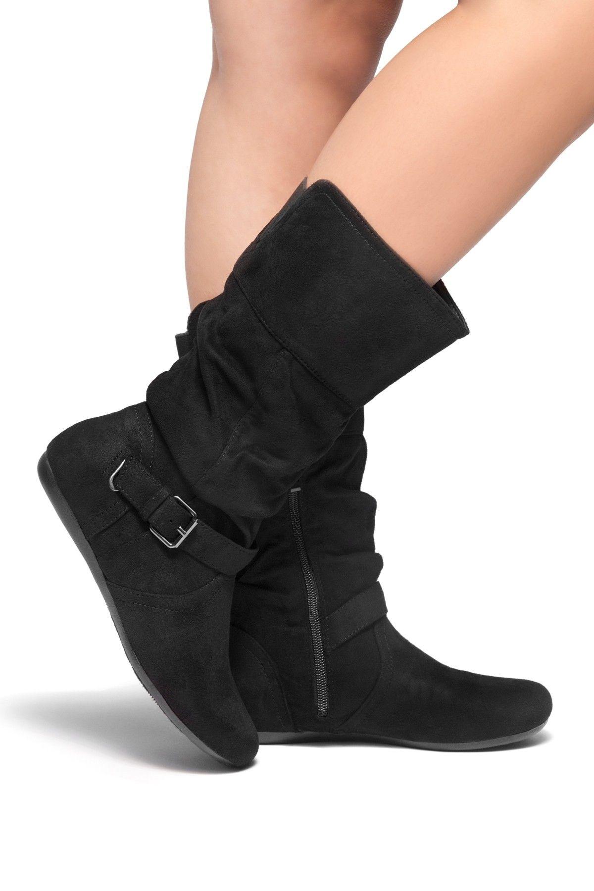 7d1b8e84db46 Buy the HerStyle Knolla Women s Fashion Calf Flat Heel Side Zipper ...
