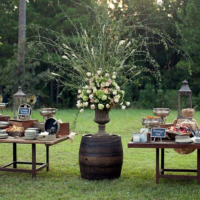Rustic Barn Wedding Food Ideas: Louisiana And Mississippi Inspired Snack Display