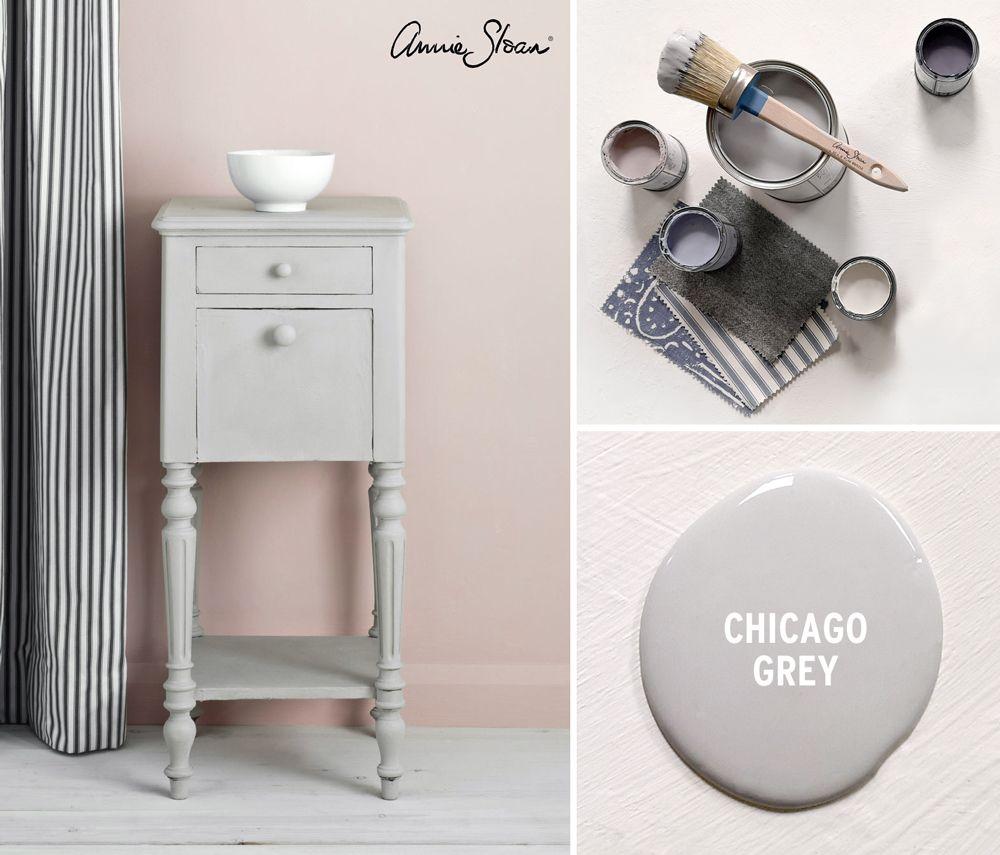 Chicago Grey Side Table by Annie Sloan  Annie Sloan  Annie sloan