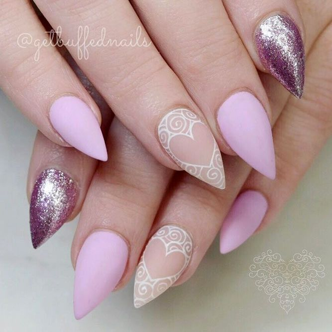 18 Best Designs For Short Stiletto Nails That Will Catch Your Eye