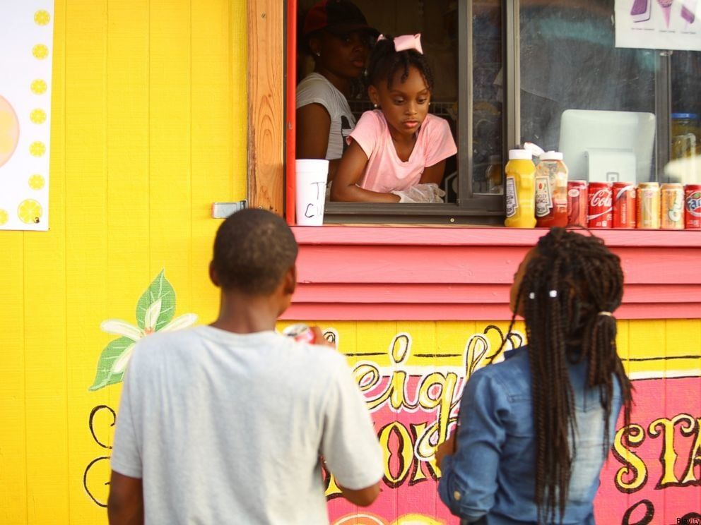 Kyleigh mcgee 7 year olds running food food truck