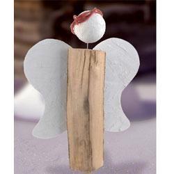 Holzscheit Engel Engel Kinderleicht Selber Basteln Weihnachten