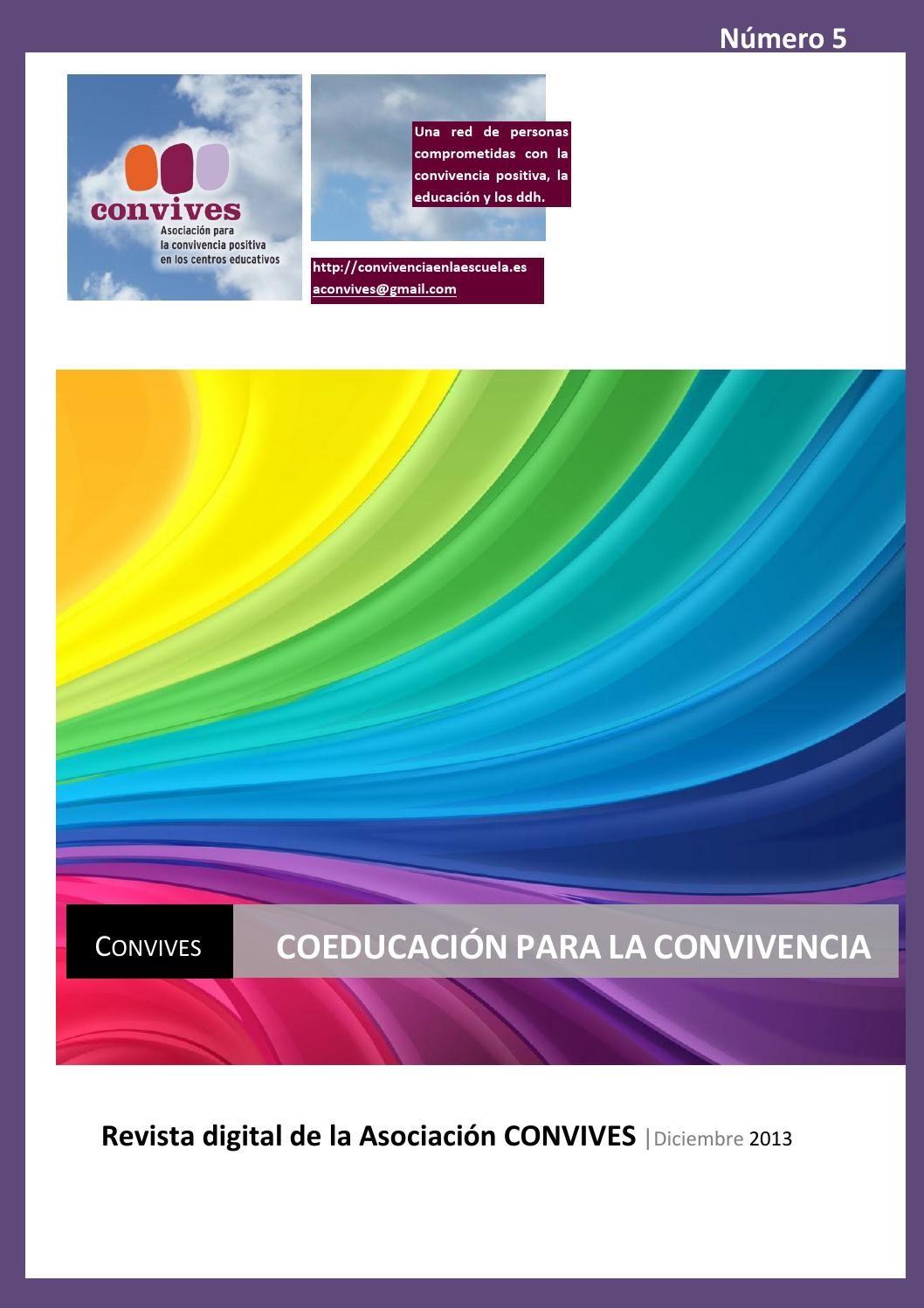 Convives 5 coeducacion 1 diciembre 2013  Revista de Convivencia, que dedica un número monográfico a la Coeducación.
