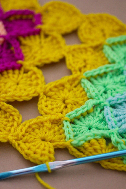 Renkli Başak Tarlası Battaniye Örneği Yapılışı