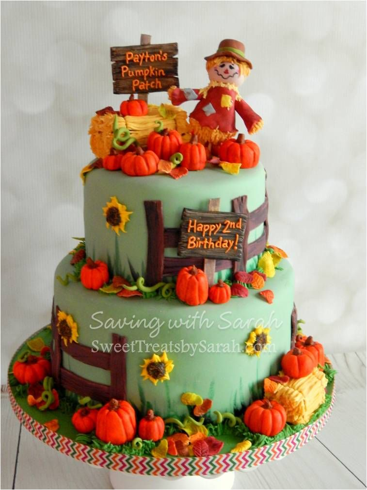 Pumpkin Patch Cake Fall Birthday Cake Autumn Cake Fall Cakes