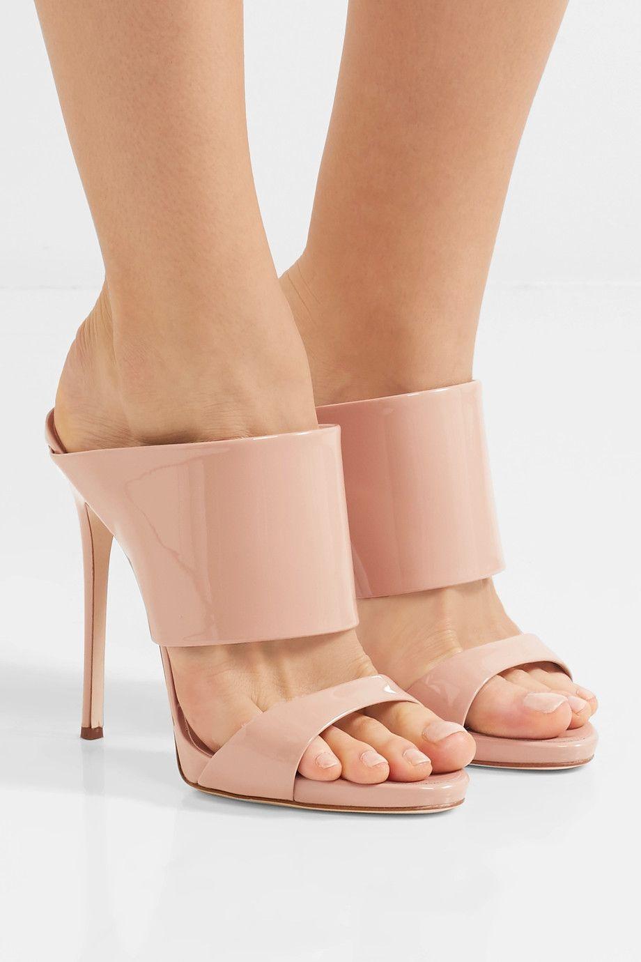 100cad966063e Giuseppe Zanotti - Andrea patent-leather mules | shoes Giuseppe ...