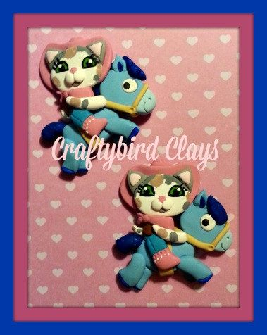 Sheriff Callie and Sparky Inspired Polymer Clay by BeFairyCreative ... 3b4d63a9947