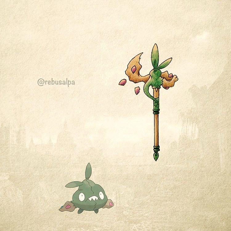 """Pokeapon No. 568 - Trubbish. #pokemon #trubbish #rod #pokeapon"""