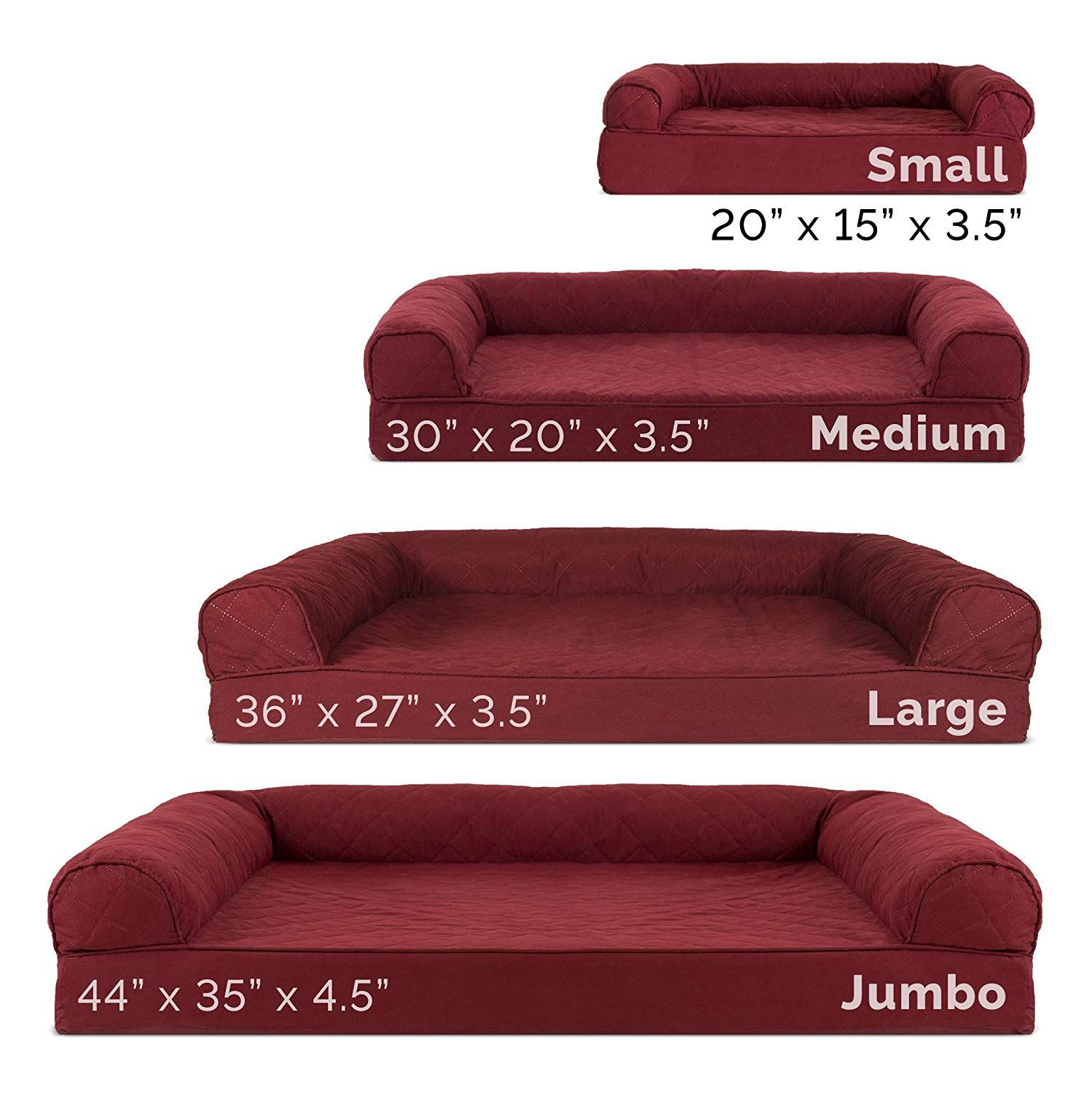 Amazon Com Furhaven Pet Dog Bed Orthopedic Quilted Sofa Style Couch Pet Bed For Dogs Cats Wine Red Jumbo Pet Couch Pet Bed Dog Pet Beds Dog Couch Bed