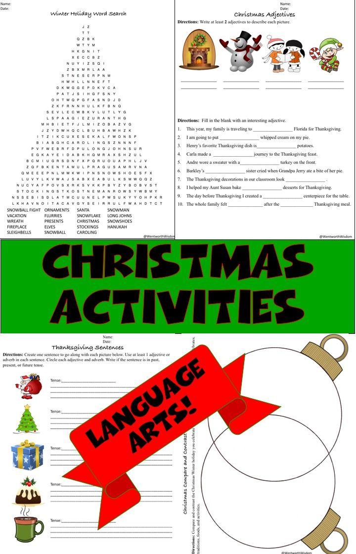 christmas activities holiday activities holiday writing christmas