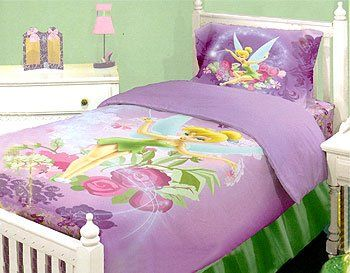 Disney Tinkerbell Neverland Fairies Twin Comforter Bed Set From