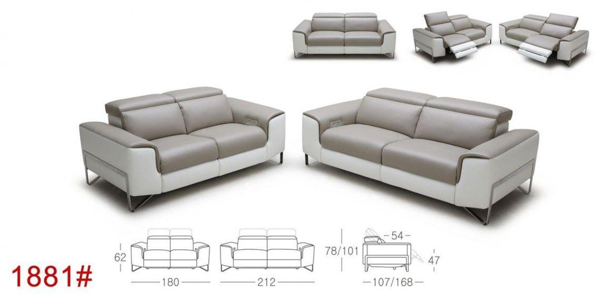 Phenomenal Divani Casa Begonia Modern Taupe Italian Leather Reclining Lamtechconsult Wood Chair Design Ideas Lamtechconsultcom