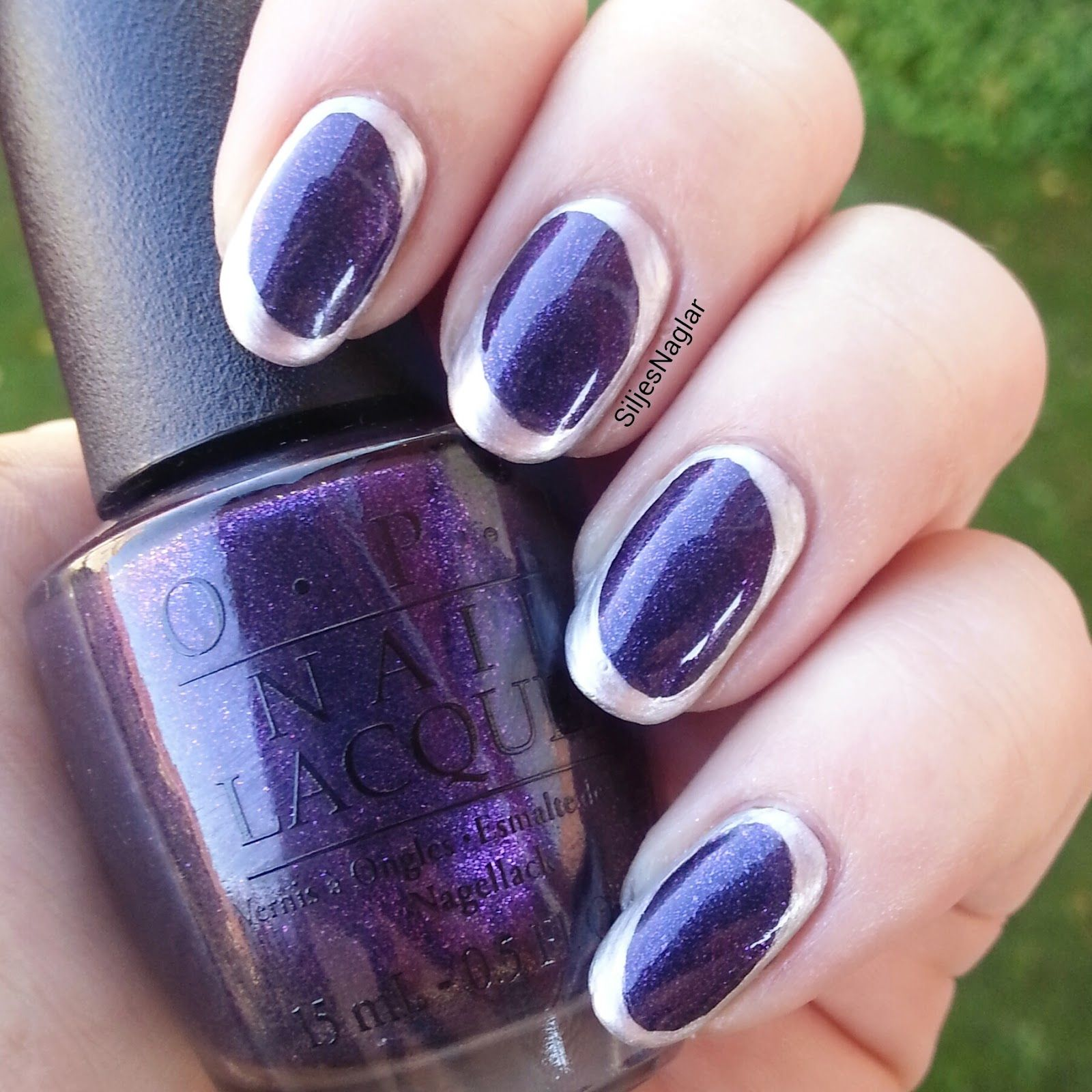 Opi opi Ink and opi this silver is mine | #veckansopi | Pinterest