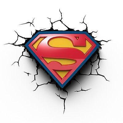 Superman Logo Dc Comics 3d Wall Deco Night Light Character View More On The Link Http Www Zeppy Io Pro Arte Superhomem Tatuagens Superman Superman Logo