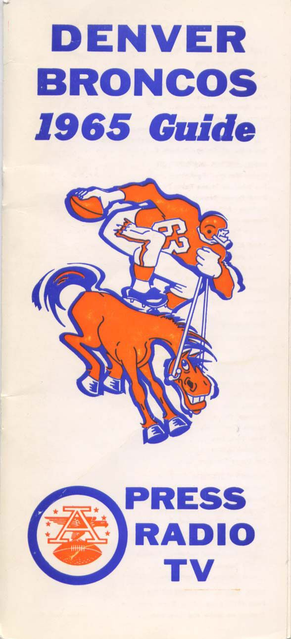 Media Room | 1965 // 1965 (4-10) // Head Coach: Mac Speedie // AFL West Finish: 4th // Home Stadium: Bears Stadium