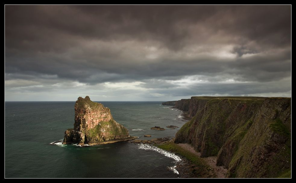 Stacks of Duncasby nearby John O' Groats