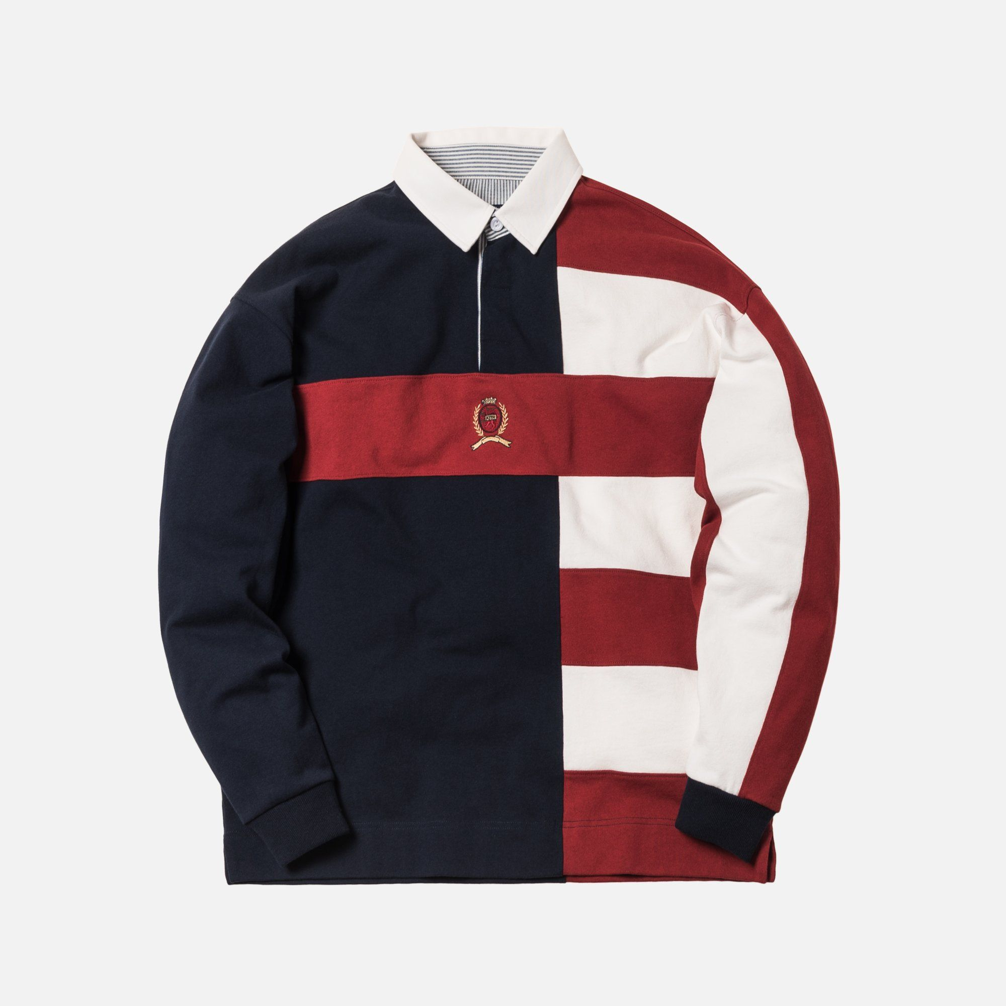 0cb97a8d6 Kith x Tommy Hilfiger Color Block Rugby - Navy | Young men's FA19 ...