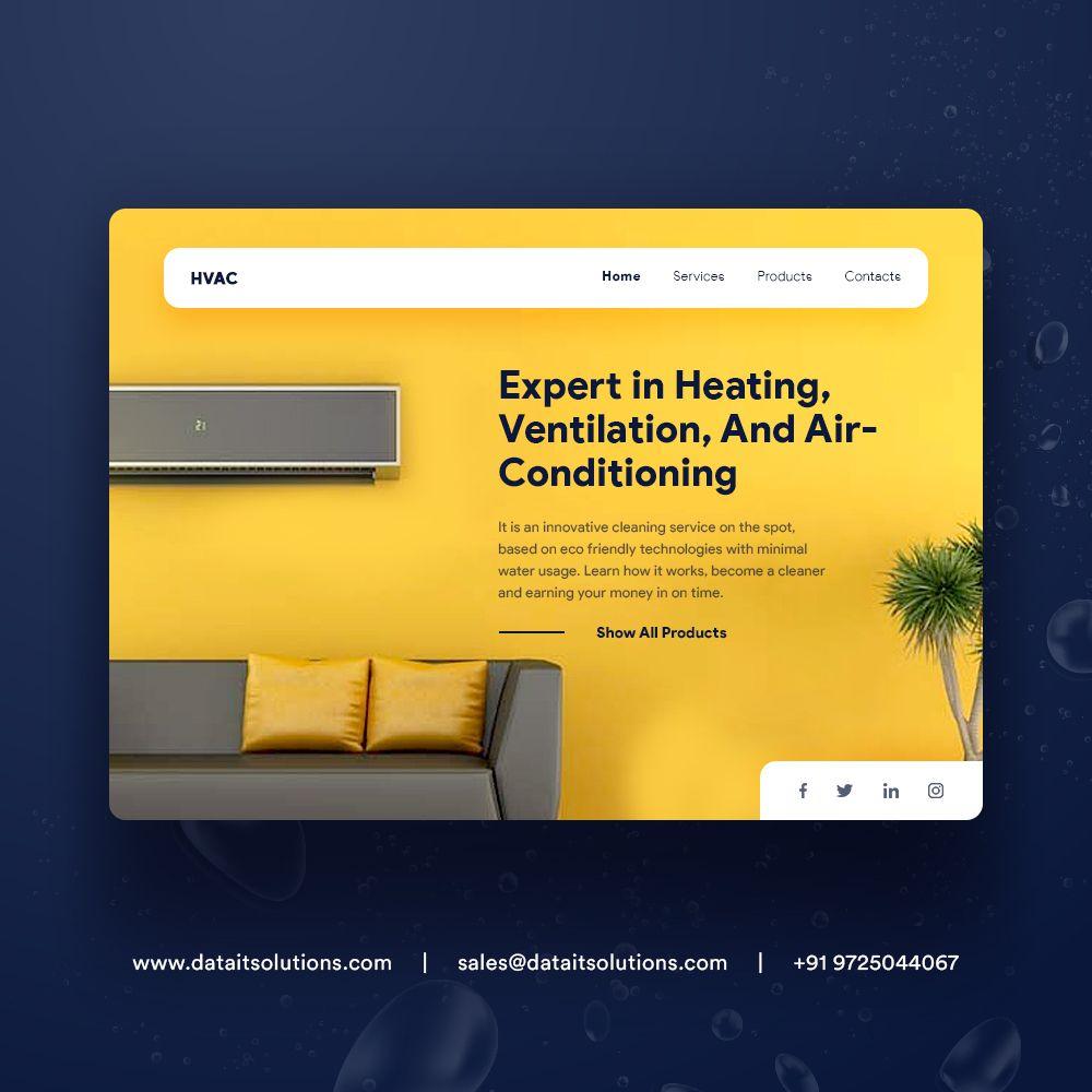 Hvac Web Design Website Design Company In 2020 Website Design Company Web Design Website Design