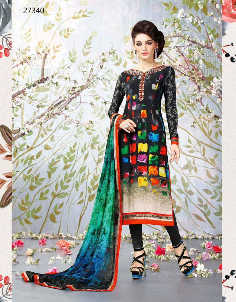 Salwar Kameez Bollywood Design India Party Wear New Fashion Dress Multi Color Radhakrishnaexports Salwarkameez Fashion Fashion Dresses Designer Suits