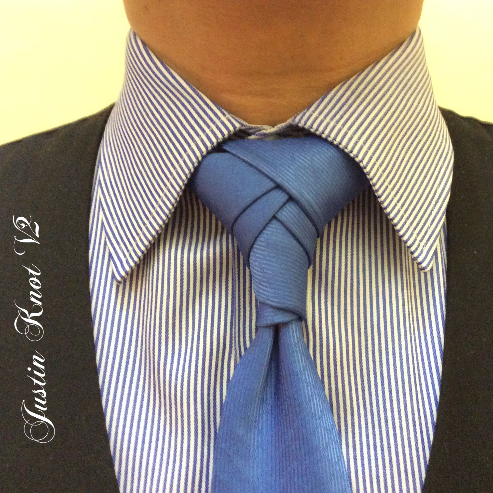 Justin Knot Version 2 created by Noel Junio. | Neck tie