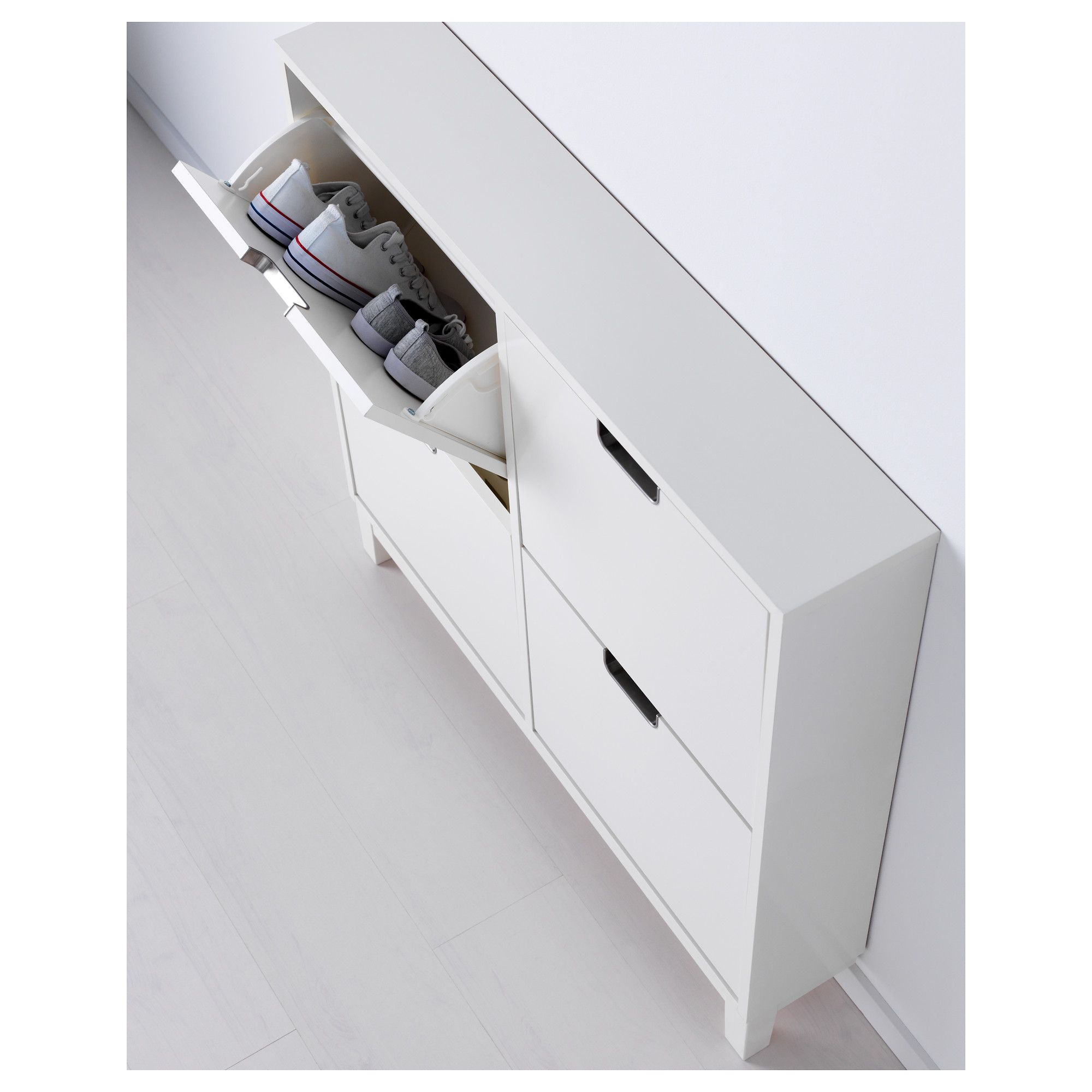 IKEA  STLL Shoe cabinet with 4 compartments white in