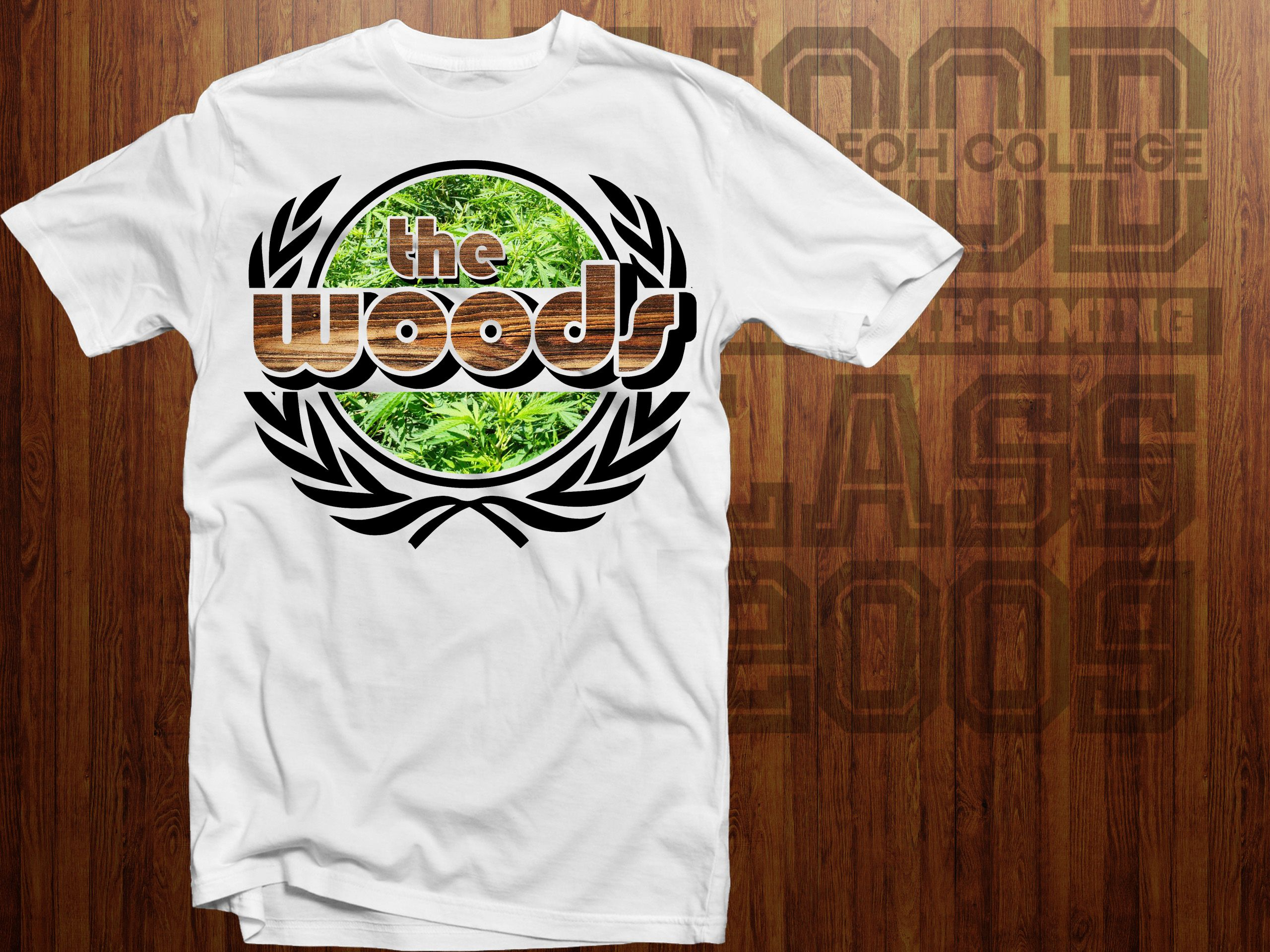 Tshirt design for alumni homecoming - Alumni Homecoming Batch 09 Wood First 5 Years Shirt Design
