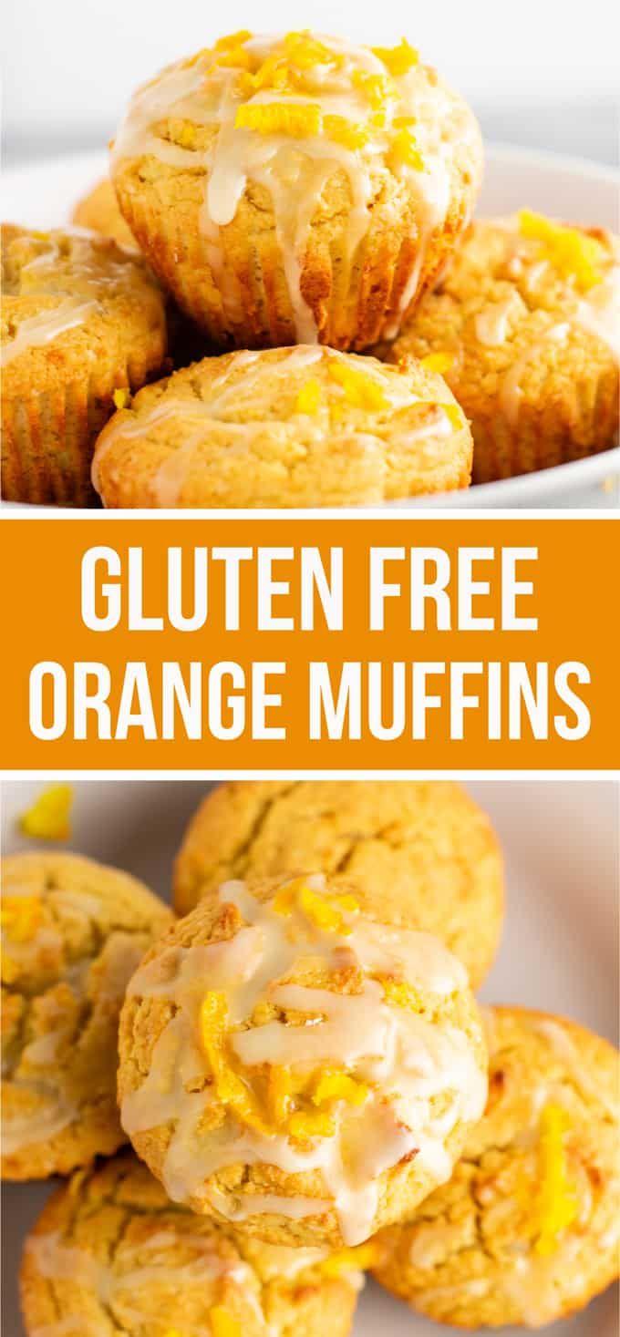 Gluten free muffins recipe with sweet orange glaze #glutenfreebreakfasts
