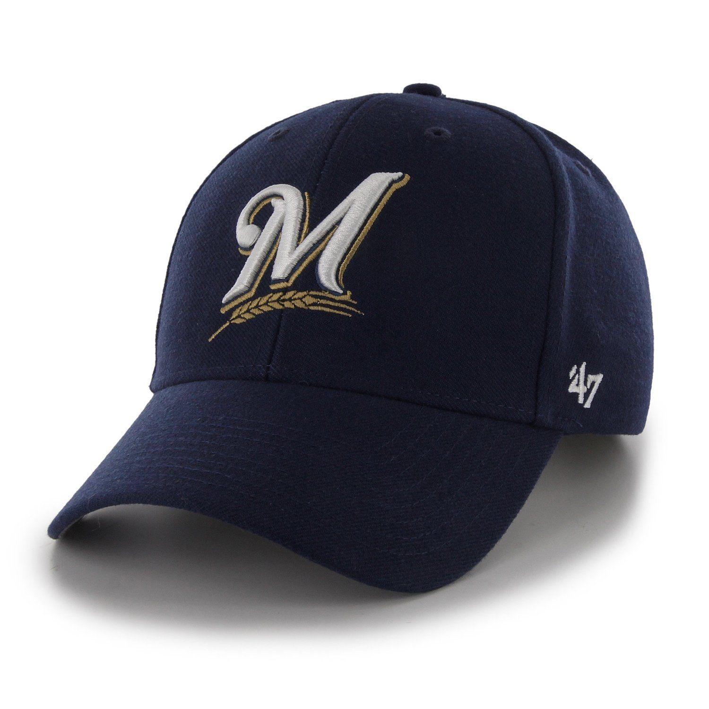 Amazon.com   MLB Milwaukee Brewers Juke MVP Adjustable Hat 9e33a1cd451c