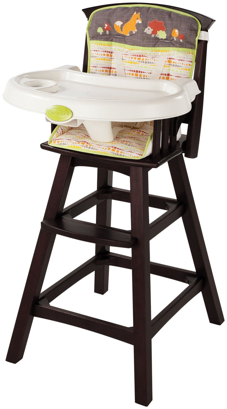 Graco high chair 4 in 1 summer infant classic comfort wood high chair  fox u friends  baby