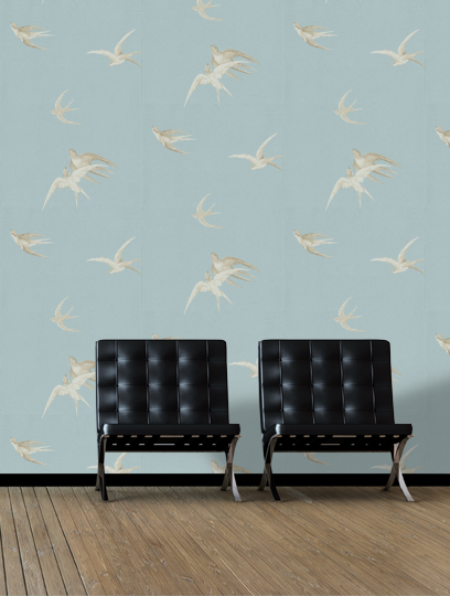 Sanderson Swallows Wallpaper - DVIWSW103