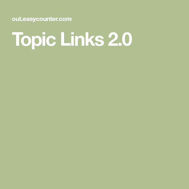 Topic Links 2 0