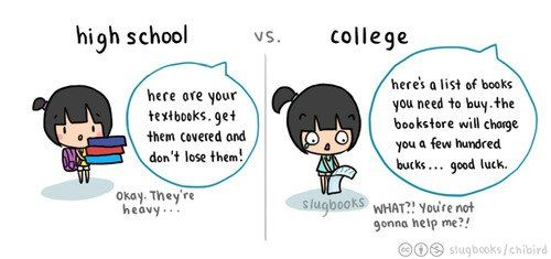 So True High School Vs College  Craze Quotes  High School Vs  High School Vs College
