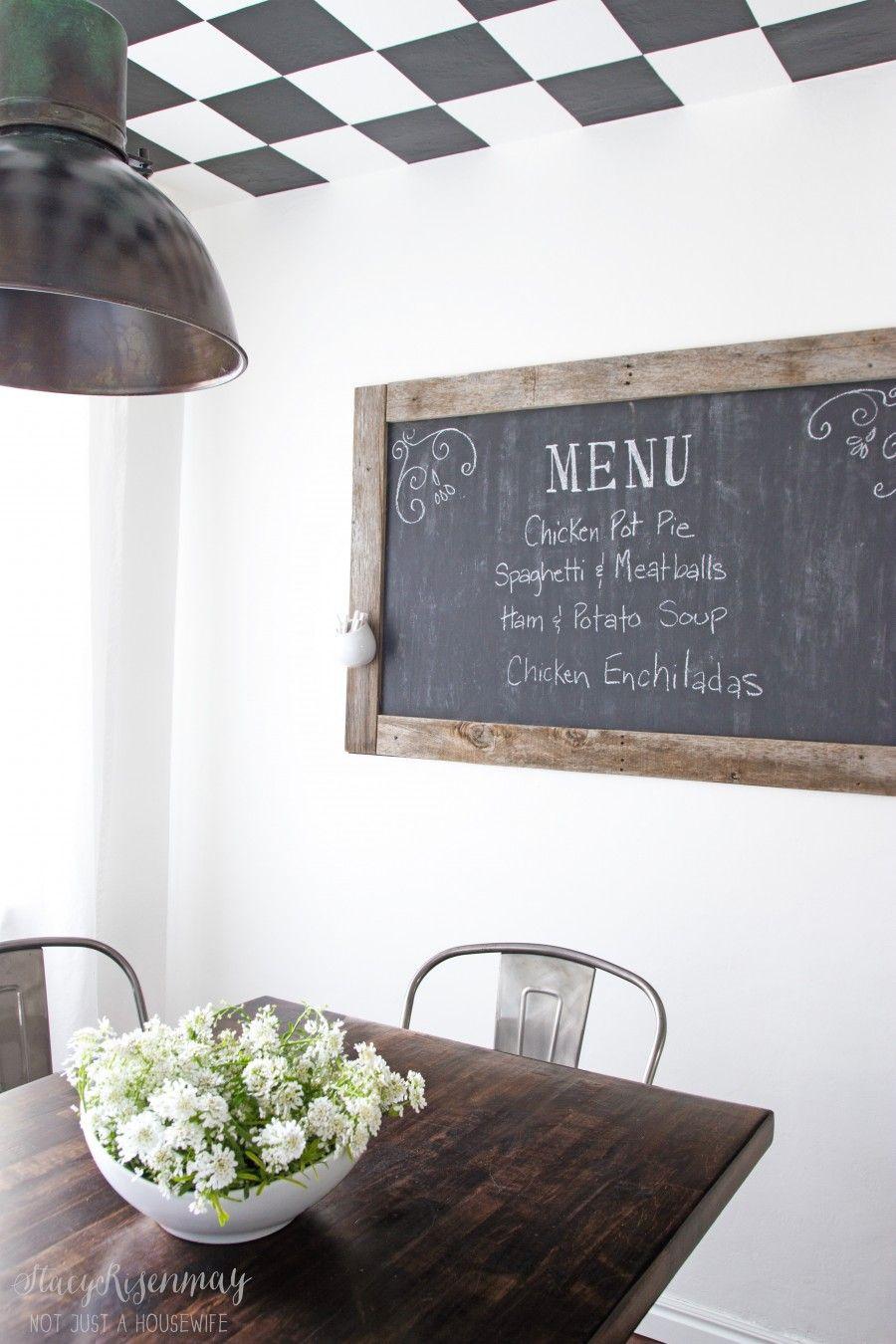 Ordinaire Menu Chalkboard In Dining Room