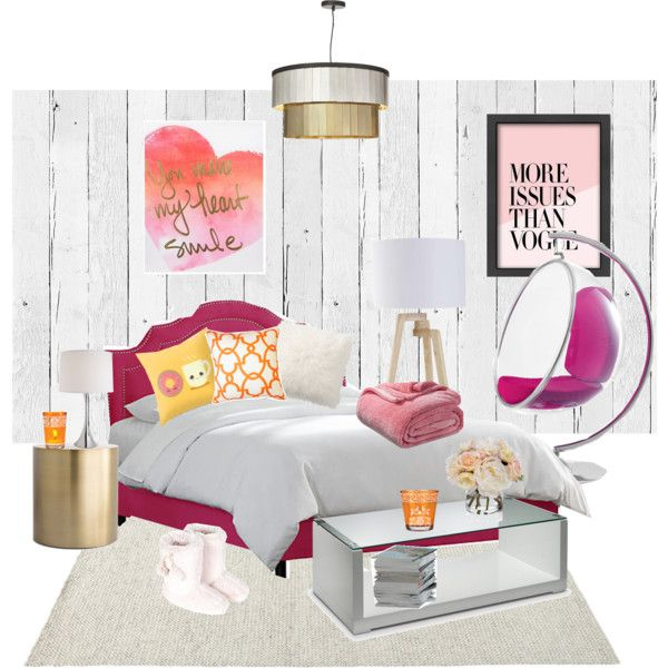 Pretty In Pink by missa-watson on Polyvore featuring polyvore interior interiors interior design home home decor interior decorating Michael Aram CB2 Xhilaration Diane James Americanflat Pottery Barn Cultural Intrigue Accessorize NLXL modern