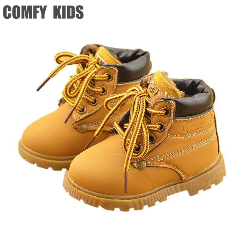 Winter Fashion Child Leather Snow Boots
