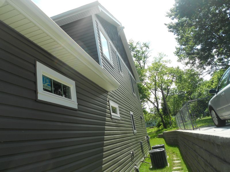 Side Of The House With Mastic Dutch Lap Siding In Rockaway Gray