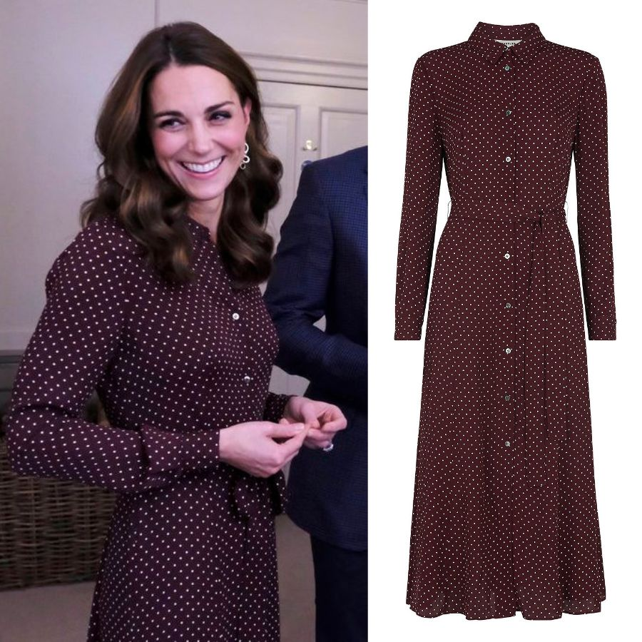 2879d0b290 Kate in Whistles Midi Polka Dot Dress for Teen Hero Reception - Dress Like  A Duchess