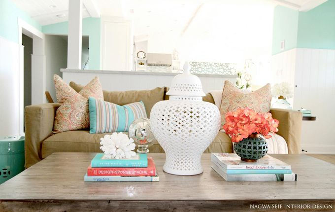 Turquoise Accessoires Woonkamer : Nagwa seif interior design coral and blue pinterest decoratie