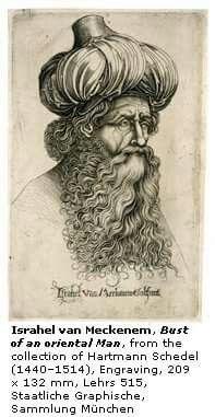 Israhel von Meckenem, Bust of an otintal man
