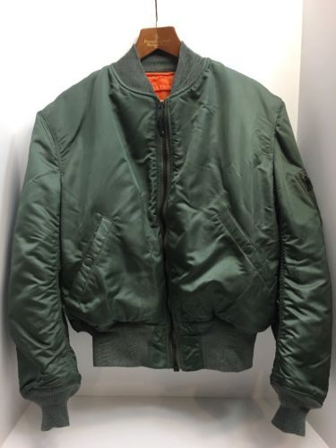 60258481 Mint 1965 Vintage Vietnam War USAF MA-1 FLIGHT JACKET US Military Large